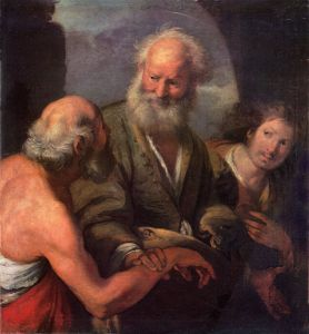 """St. Peter Cures the Lame Beggar,"" Bernardo Strozzi [Public domain], via Wikimedia Commons."