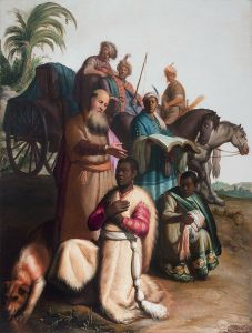 """""""The Baptism of the Eunuch,"""" Rembrandt van Rijn, 1626."""