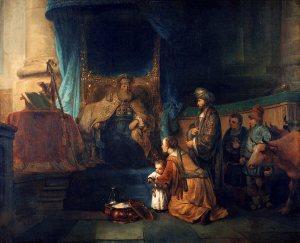 Gerbrand van den Eeckhout - Hannah presenting her son Samuel to the priest Eli, ca. 1665