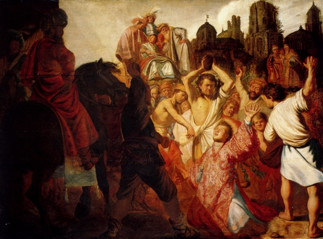 The Stoning of St Stephen Rembrandt 1625