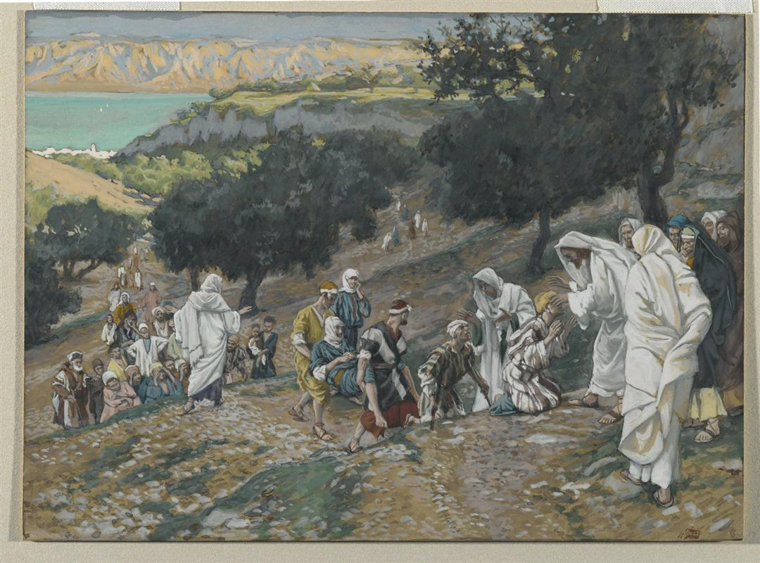 James Tissot Jesus Heals the Blind and the Lame on the Mountain